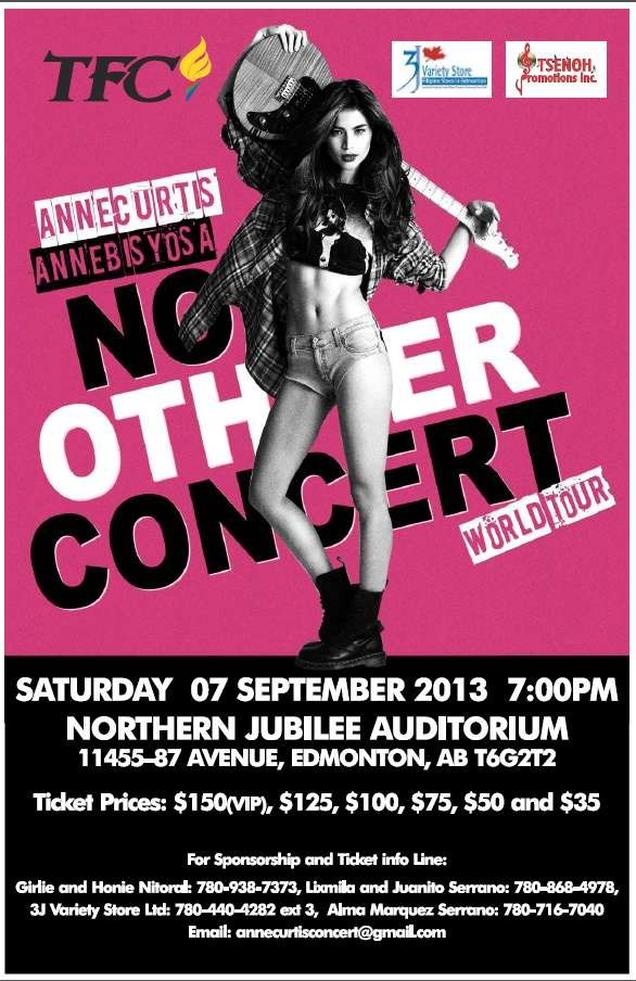 Annebisyosa No Other Concert World Tour 2013 - Edmonton, AB CANADA